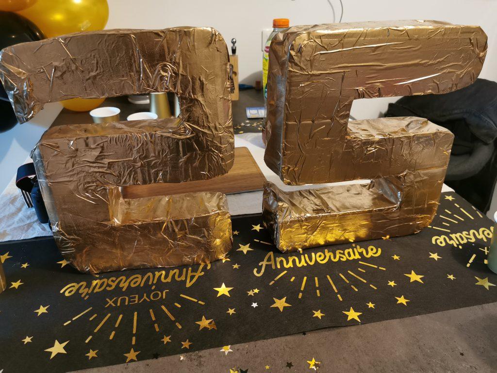 Décoration fête 25 ans - DIY - anniversaire surprise de mon homme